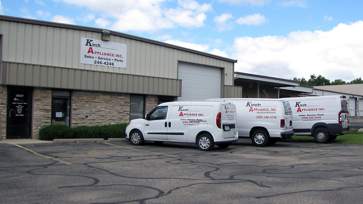 Kirch Appliance, Inc. Building and Service Trucks